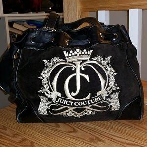 Velour handbag
